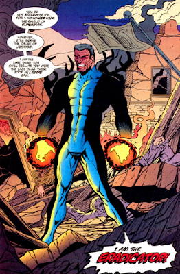 panel from Outsiders v1 #3 (1994). Property of DC comics.