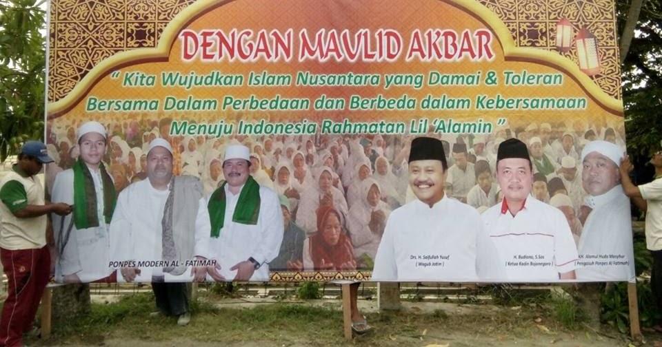 Ponpes Modern Al Fatimah Bojonegoro Jatim Maulid Nabi Minggu 20 Nopember 2016