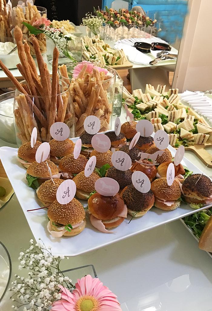 topper buffet  cavalluccio dondolo rosa
