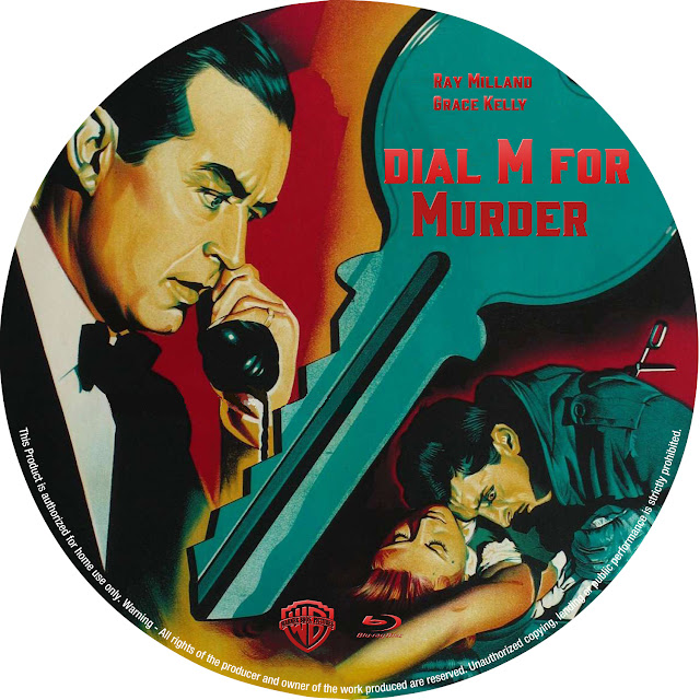 Dial M for Murder (1954) Bluray Label