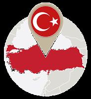 Turkish flag and map