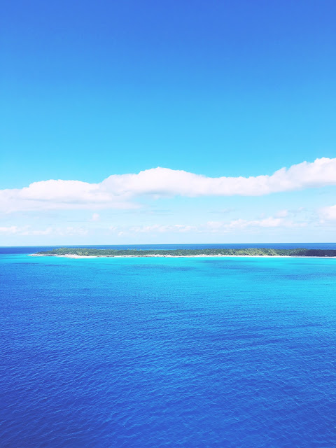 View of Half Moon Cay in the Bahamas from the Carnival Glory cruise ship