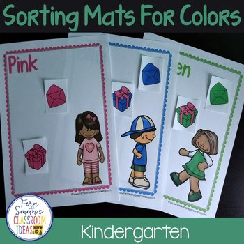 Color Sorting Mats with Different Themes, Perfect for Kindergarten Activities