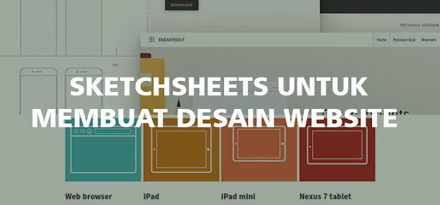 Sketchshets Untuk Membuat Desain Website