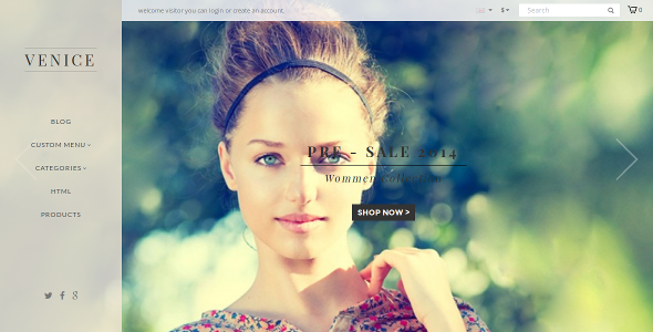 clothes sotre opencart theme