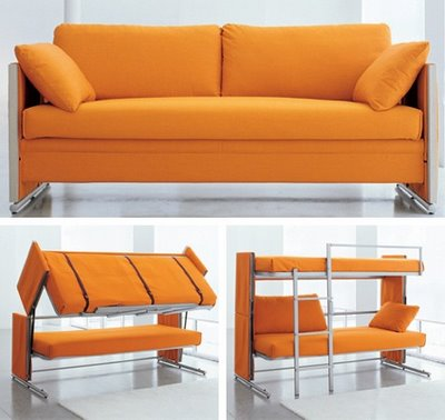 Modern Bunk Beds and Sofa