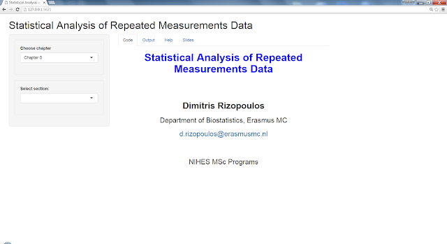 An Integrated Shiny App for a Course on Repeated Measurements Analysis (completed)