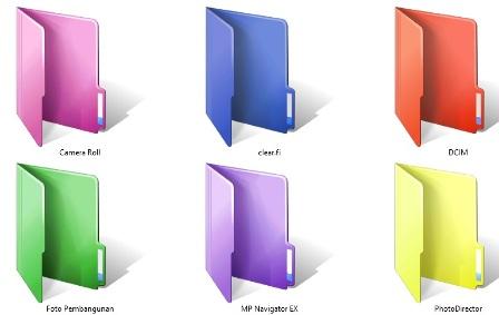 Trik Membuat Foder Warna Warni Di Windows 7, 8, 10
