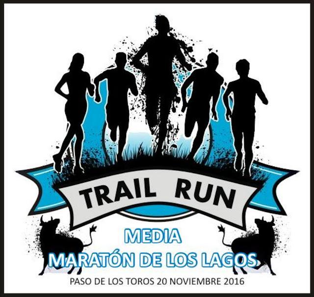 Media maratón de los lagos (trail run, 21k - 10k - 5k, Paso de los Toros, Tacuarembó; 20/nov/2016)