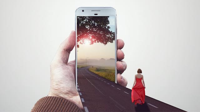 تأثير تلاثي الأبعاد على الموبايل بإستعمال برنامج الفوتوشوب:فوتوشوب بالعربي