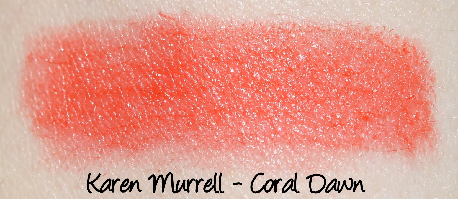 Karen Murrell Lipstick - Coral Dawn Swatches & Review