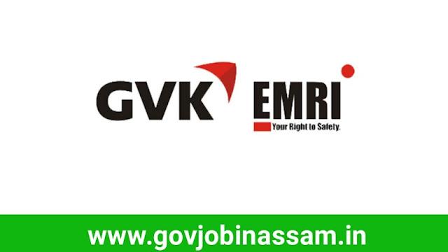 GVK EMRI Assam Recruitment 2018