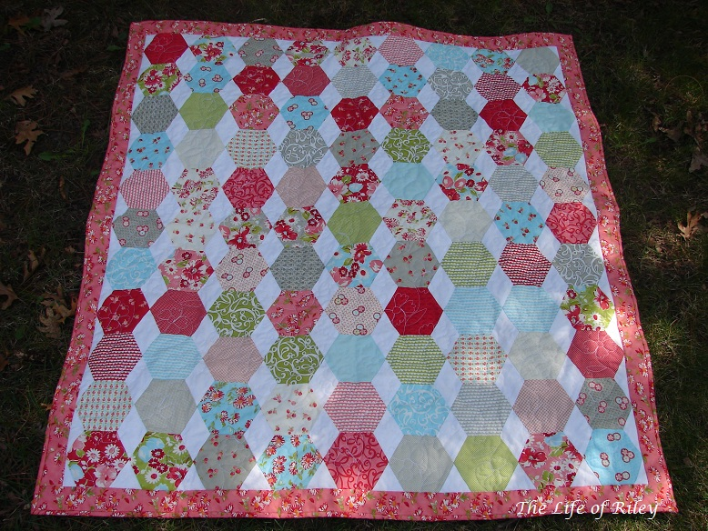 The Life Of Riley The Ruby Hexagon Quilt