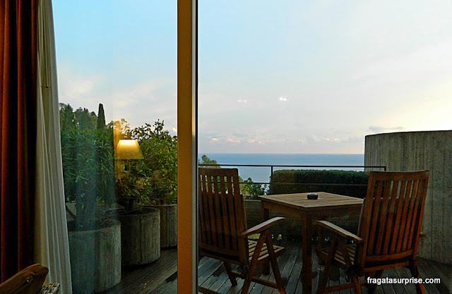 Varanda do apartamento do Hotel Monte Tauro, em Taormina