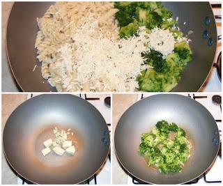retete cu paste, retete cu broccoli, preparare reteta de paste cu broccoli si branza la tigaie, preparate din paste, preparate din broccoli, retete culinare,