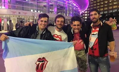 La bander Argentina en el show de Los Stones en Las Vegas.