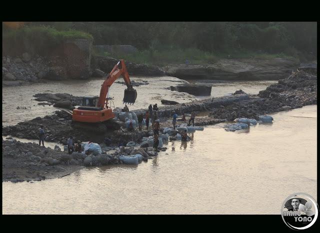 Tanggul Sementara Leuwinagka Jebol Lagi. Pagaden Barat, Subang Darurat Pangan