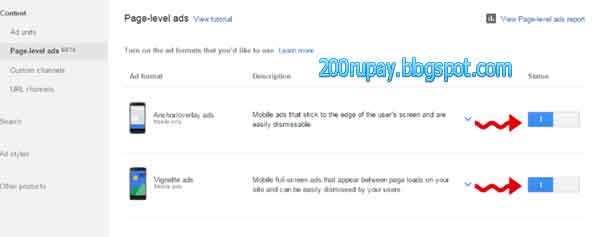 How To Use AdSense Page level ads in BlogSpot or website
