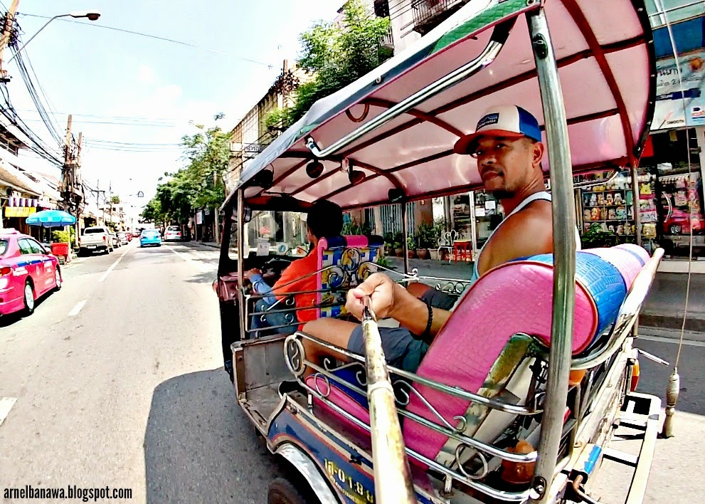 Riding a Tuk Tuk - Bangkok