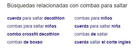 resultados  búsquedas relacionadas de Google