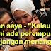 "Pesan saya - ""Kalau suami ada perempuan lain, jangan menangis""......Jangan Biarkan Lelaki Durjana itu Nampak Kelemahan Kita...."