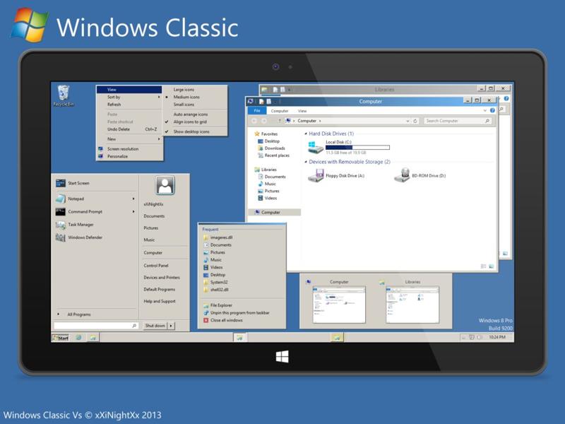 Windows Classic Vs