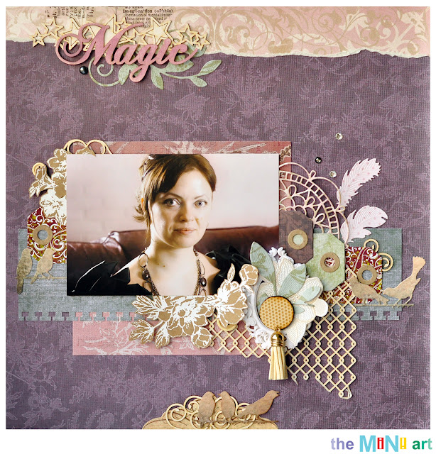magic | the Mini Art DT @akonitt #layout #by_marina_gridasova #dcwv #theminiart #chipboard #scrapbooking