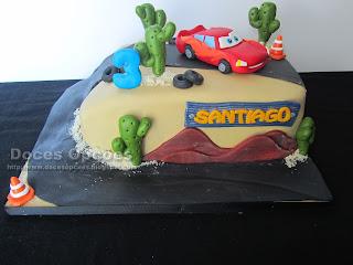 O Faísca McQueen no 3º aniversário do Santiago