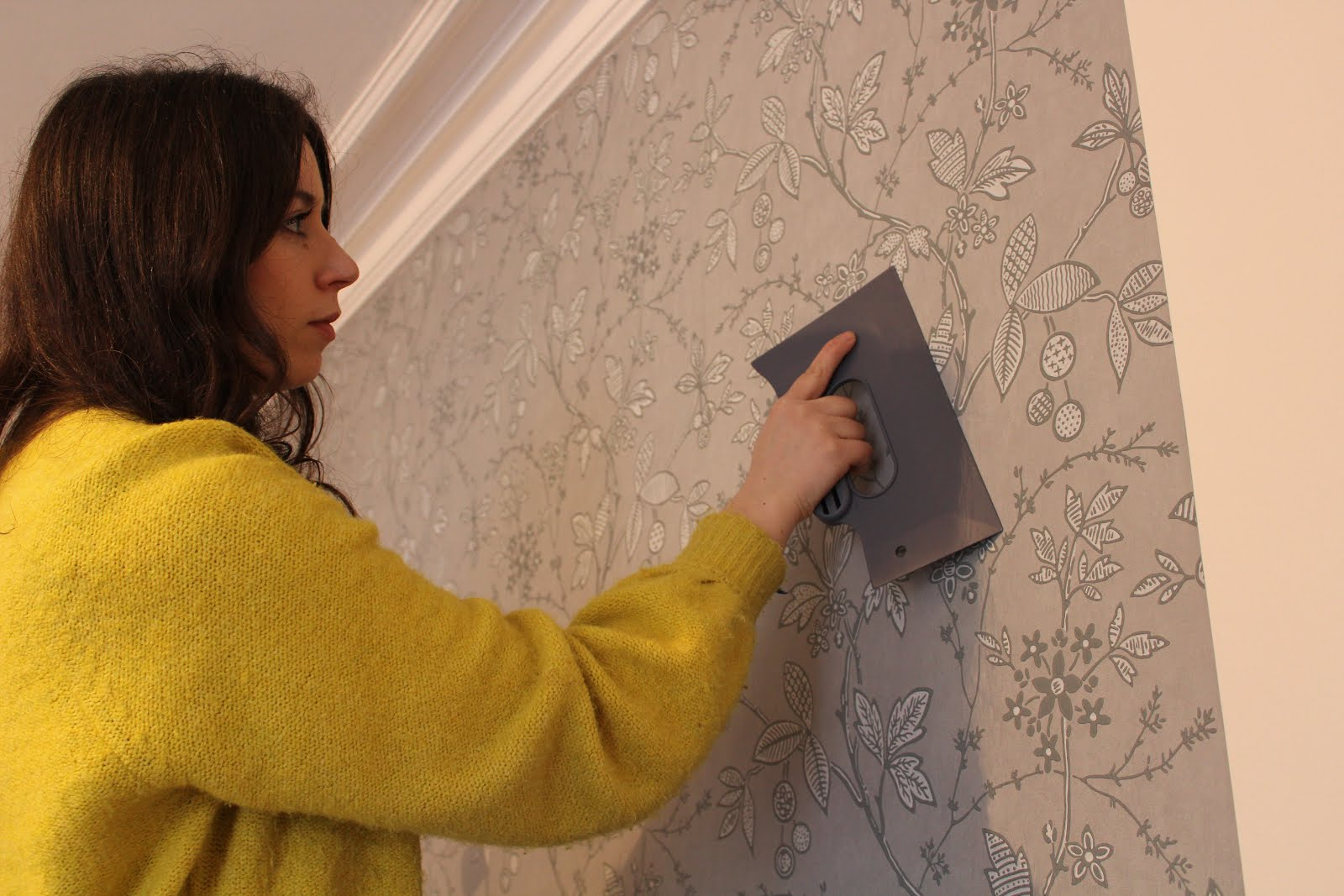 DIY wallpaper installation