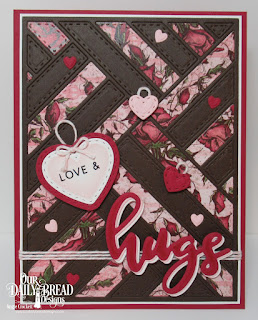 Our Daily Bread Designs Stamp/Die Duos: Hugs, Paper Collection:  Heart and Soul, Quilted Background,  Stitched Hearts, Umbrella