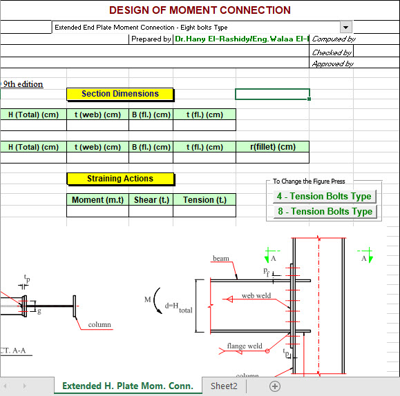 Design Of Moment Connection
