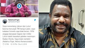 Natalius Pigai Menentang Jokowi dan Luhut Pandjaitan, Lenis Kogoya Minta Pigai Diam Atau. . . .