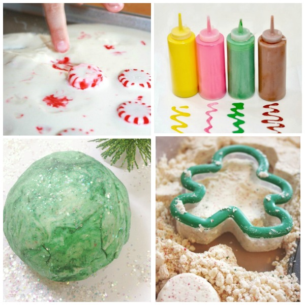 30+ CHRISTMAS PLAY RECIPES FOR KIDS: From Santa Slime to GRINCH GOO it's all here!  #Christmasplayrecipes #Christmasslime #Christmasactivitiesforkids #Christmascrafts