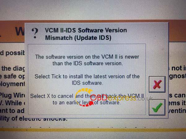 VCM2-ids-software-version-mismatch