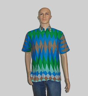 Baju Batik Pria, Hem Batik Rangrang [H880] Hijau