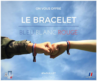 3 Bracelets Bleu-Blanc-Rouge Offerts Gratuitement par l'armée de Terre