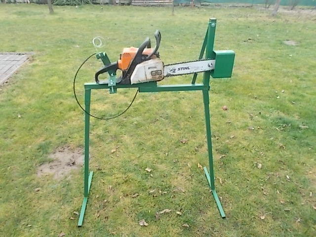 Log Horse With Chainsaw Holder Drill Grape Electric Grape
