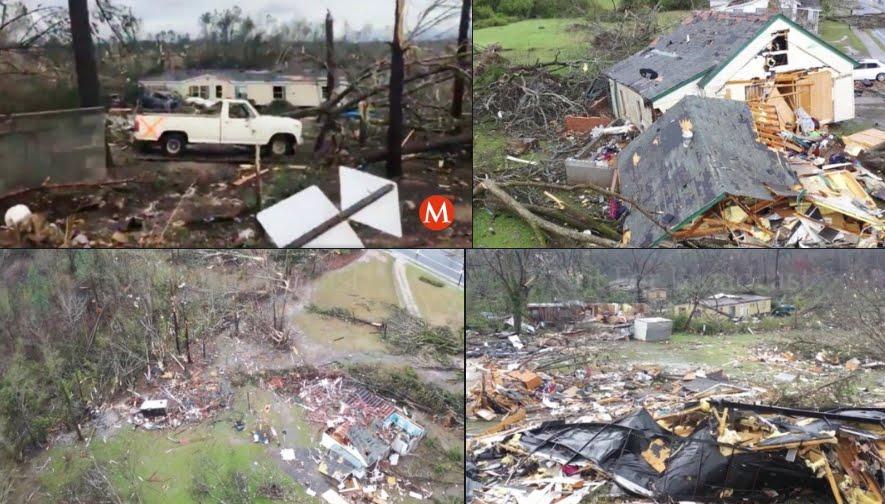 Forte Tornado in Alabama provoca morti, immagini impattanti.