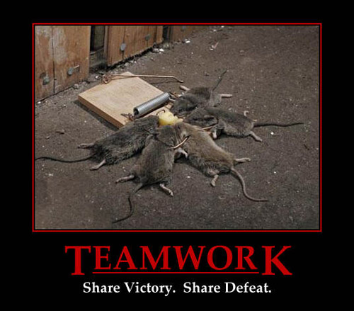 Cartoon Animation Motivational Posters Funny Teamwork