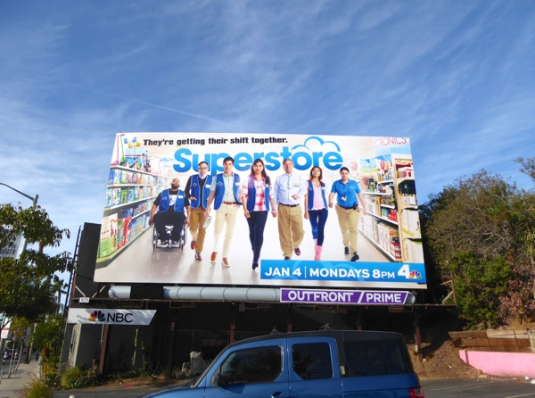 Superstore series launch billboard
