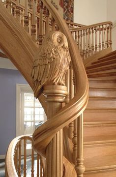 IMPRESSIVE INTERIOR STAIRCASES AND NEWEL POST DESIGNS