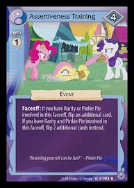 My Little Pony Assertiveness Training Premiere CCG Card