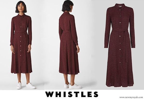 Kate Middleton wore Whistles-Margot Spot Shirt Dress