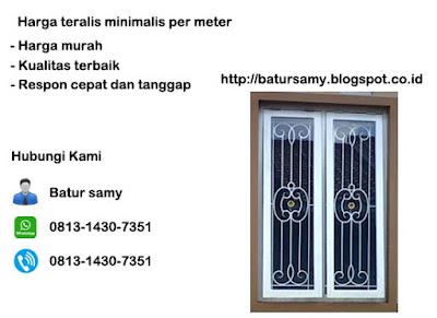harga teralis minimalis per meter