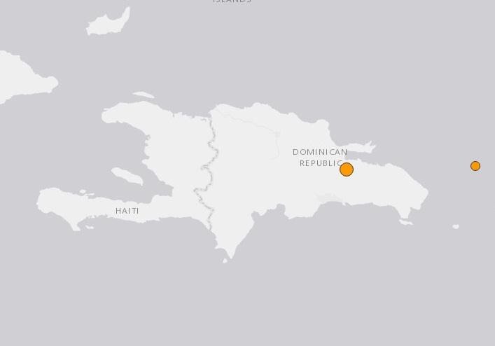 Un temblor de magnitud 4,7 se registra en Monte Plata