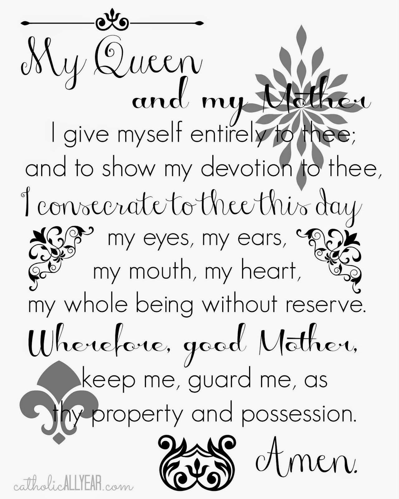 Catholic All Year Quotable Frankie Printable Prayers