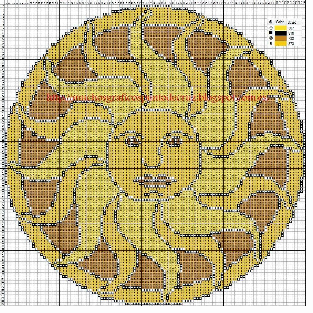 Graficos punto de cruz gratis mandala y calendario azteca 5 - Videos de punto de cruz ...