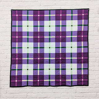 Modern Scot tartan patchwork quilt, Charm About You