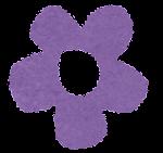 小さな花のイラスト「紫」