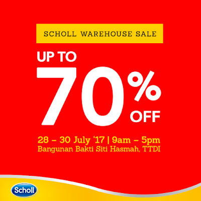 Scholl Malaysia Warehouse Clearance Sale Discount Offer Promotion